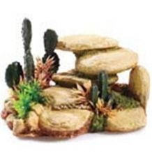 Classic White Stone And Cactus Ornament 165mm